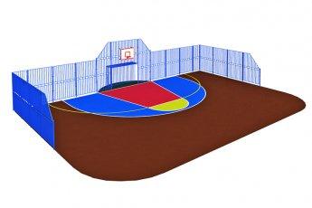 Стенка для универсальной спортивной площадки. Столбы 80х80
