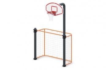 Ворота для игры в мяч и баскетбольная стойка